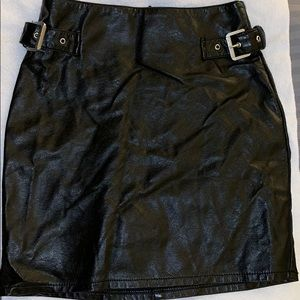 H&M faux leather skirt, new with tags